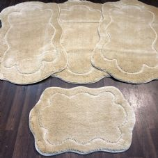 ROMANY WASHABLE TRAVELLERS MATS SETS OF 4 NON SLIP TOURER SIZE THICK LIGH BEIGE